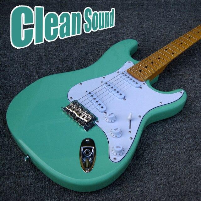 Tùy chỉnh Jeff Beck Lướt Xanh Noiseless SSS Bán Tải Vintage Tremolo Cầu ST Điện Guitarras Miễn Phí Vận Chuyển Guitare Còn Hàng