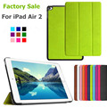 For iPad Air 2 Case Luxury Business Smart Folding Case Cover For iPad Air 2 PU Leather Protect Fundas Factory Wholesale