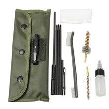 Набор для чистки винтовочного пистолета, Новое поступление, 10 шт., 22cal 5,56 мм, чистящий стержень, нейлоновая щетка для чистки пистолета, аксессуары, инструменты для чистки