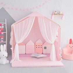 Dom zabaw dla dzieci Nordic INS ten sam namiot Baby Dome wiszący moskitiera dekoracja pokoju dziecięcego namiot morski basen z piłeczkami|Namioty do zabaw|   -