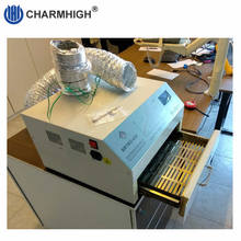 CHM 420 إنحسر فرن ، الهواء الساخن + الأشعة تحت الحمراء 2500 واط ، 300*300 مللي متر بغا مصلحة الارصاد الجوية SMT إعادة العمل ، 220 فولت