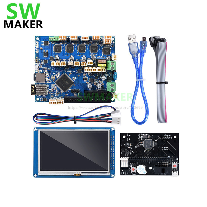 Duet 2 WIFI V1.04 Motherboard clone Duet WIFI Controller board w/ PanelDue 7i PanelDue 5i 4.3i screen Integrated For 3D Printer image