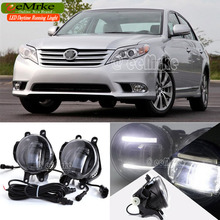 eeMrke Auto DRL For Toyota Avalon 2008 – up 2 in 1 Brighter LED Daytime Running Lights Fog Light Lamp With Q5 Lens