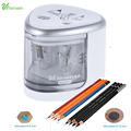 New Two-hole Sacapuntas Electric Pencil Sharpener Electronic Desktop School Office Home Automatic Pencil Sharpener 8004