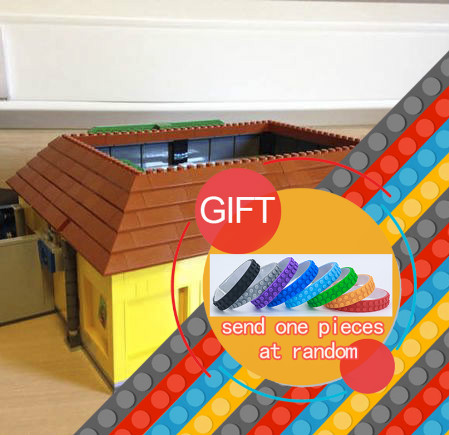 DHL 16004 2232Pcs The Simpsons Kwik-E-Mart Building Blocks Set Mini blocks Christmas Gift Clone 71016 toys lepin neue lepin 16004 2232 stucke die simpsons action modell baustein ziegel kompatibel 71016 fur kinder geschenk