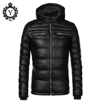 COUTUDI New Fashion Men S Winter Jacket Warm Hooded Down Coat Jacket For Men High Quality