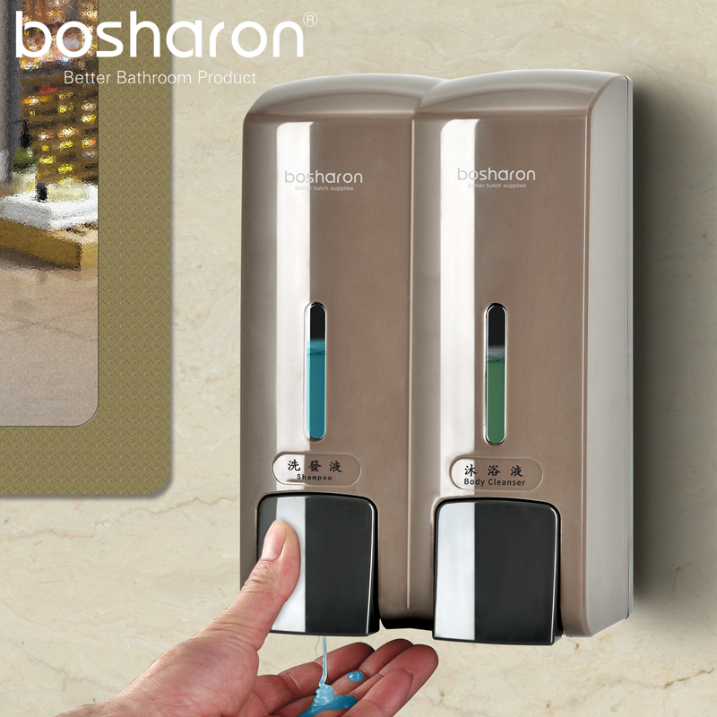 Liquid Double Hand Soap Dispenser Wall 300ml Plastic Home Decoration Accessories Organizer For Bathroom Shampoo Bottle Dispenser