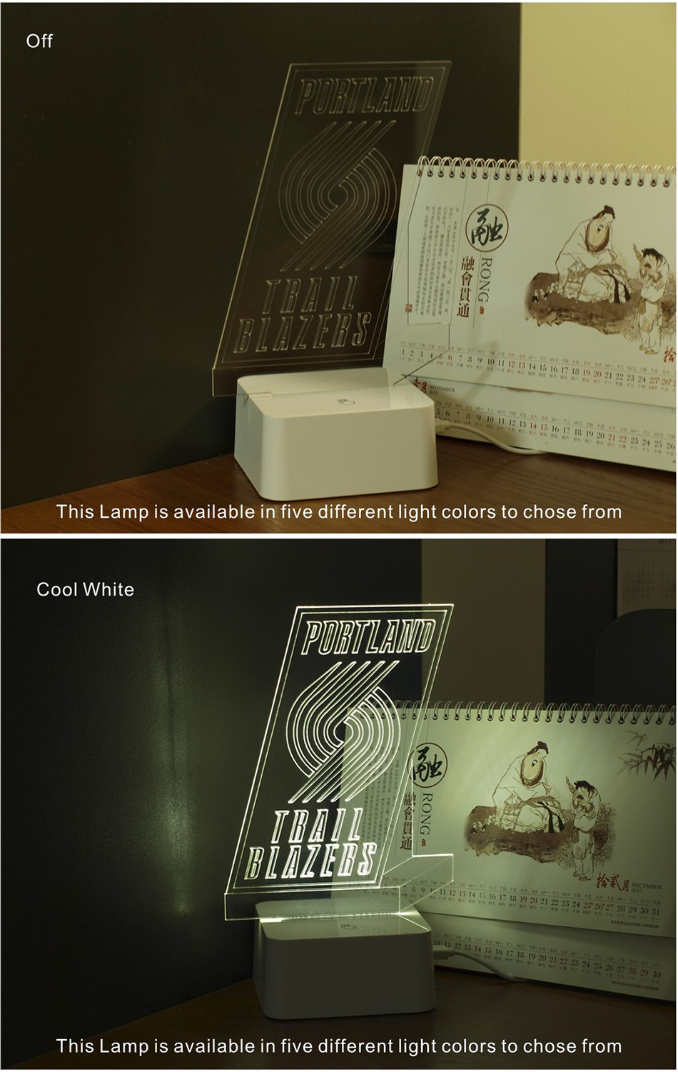 3D Lamp USB Novelty for Portland NBA Basketball Fans LED Night Light as Creative Gifts or Home Decor (3)