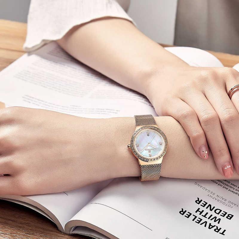 2019 NAVIFORCE nuevo reloj de marca de lujo para mujer, relojes de cuarzo de oro rosa de moda, reloj de pulsera informal para mujer, reloj de pulsera impermeable