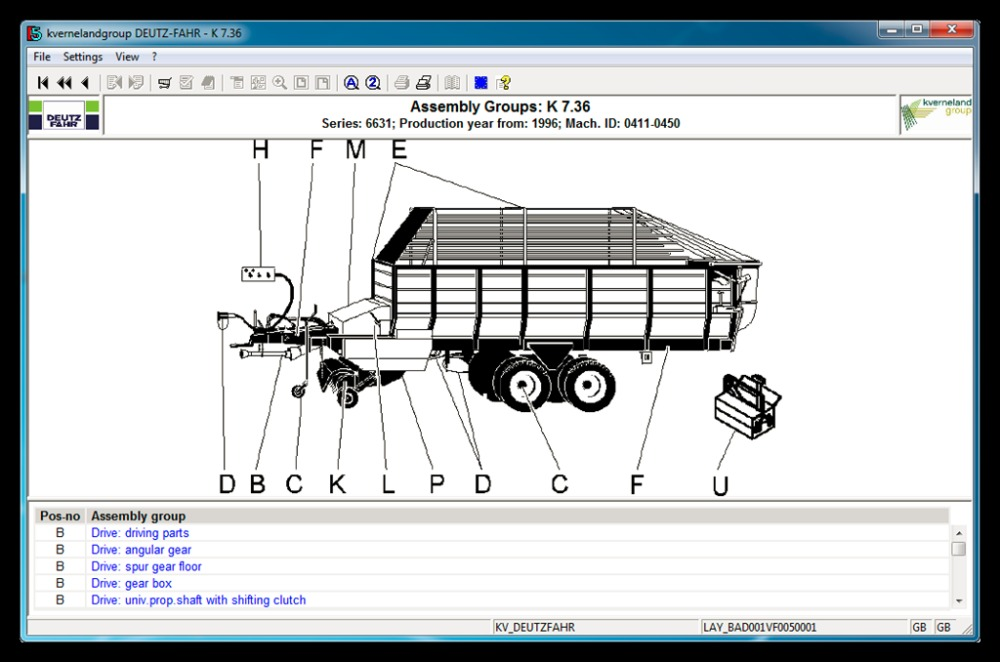 Deutz-Fahr AG Part Catalog v5.0.1 [2010]
