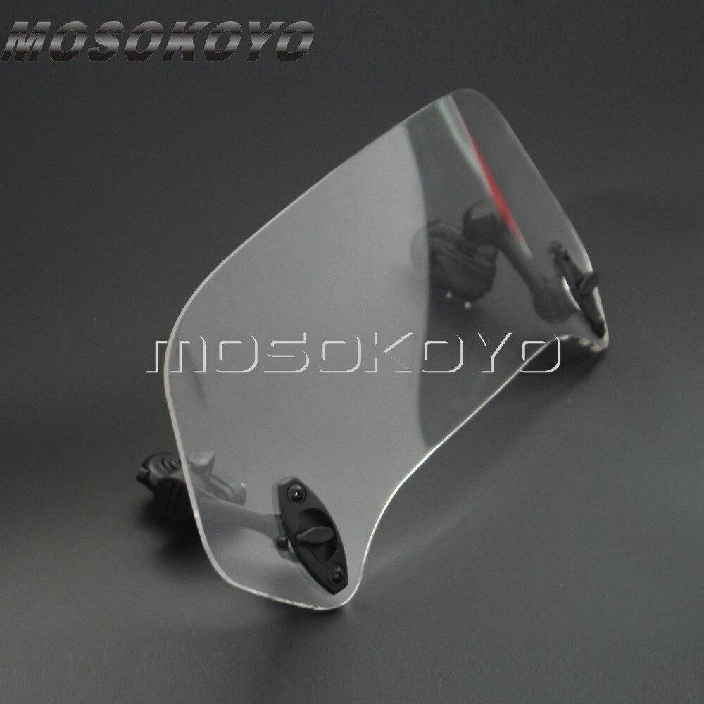 Transparent Moto Augmenté Réglable Vent Écran Pare-Brise Spoiler déflecteur d'air pour Honda BMW F800 R1200GS KAWASAKI YAMAHA - 2