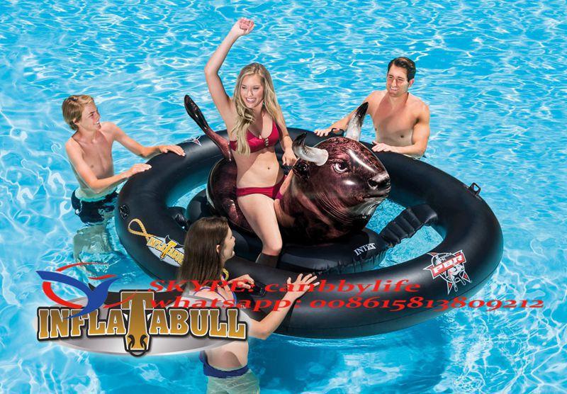 Intex PBR Inflatabull Bull-Riding Giant Inflatable Swimming Pool Lake Fun Float