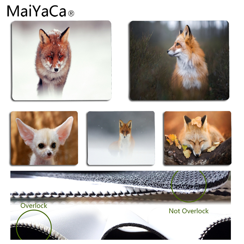 Babaite Non Slip PC Fox Customized MousePads Computer Laptop Anime Mouse Mat Size for 18x22cm 25x29cm Rubber Mousemats