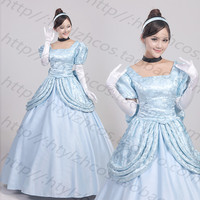 Custom Made Cinderella Dress Adult Cinderella Cosplay Costume Adult Cinderella Costume