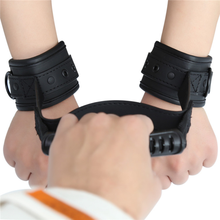 PU Leather Sex Handcuffs Edging Sponge Pin Buckle Handle Toys for Woman Accessories Erotic Couple New
