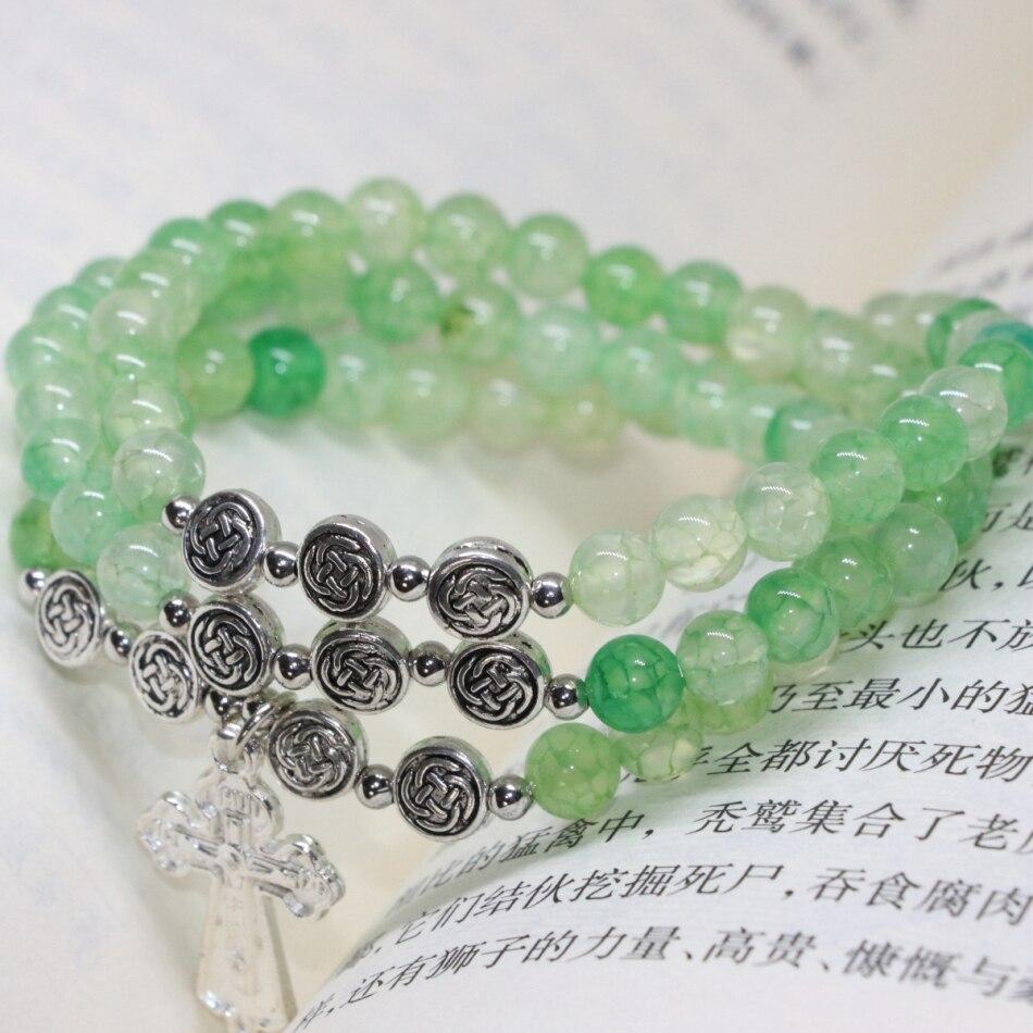 Original Multilayer Bracelet Natural Apple Green Popcorn