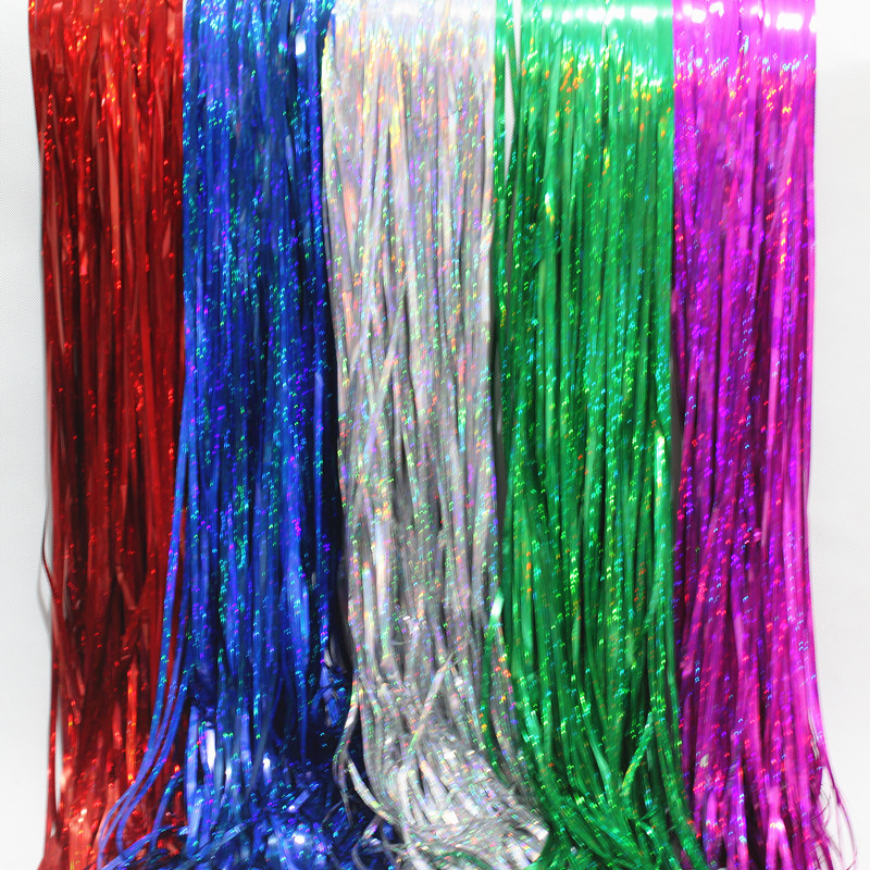 3 ft x 8 ft metallic green foil fringe curtain shimmer curtain birthday decor new christmas new year decorationsusd 780piece - Foil Christmas Door Decorations