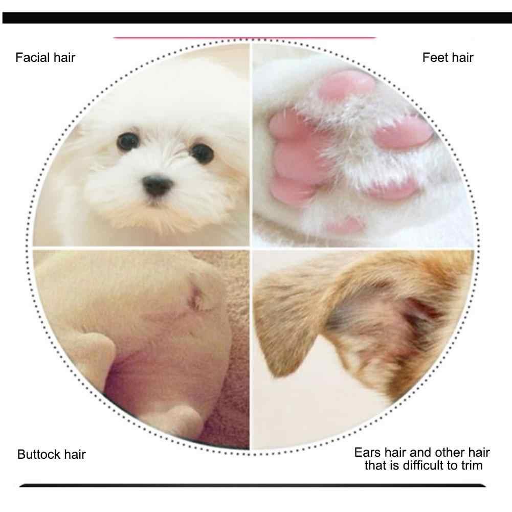 USB Rechargeable Anjing Kucing Kaki Pemangkas Rambut Hewan Peliharaan Mini Electric Clipper Lokal Alat Cukur Mata Anjing Rambut Mencukur Perangkat Perawatan Hewan Peliharaan alat