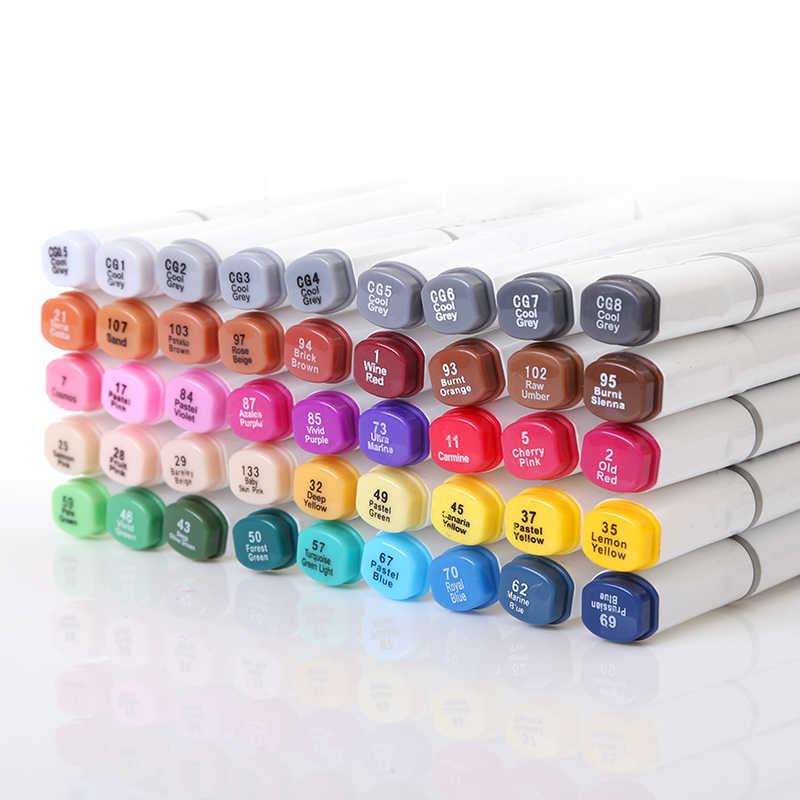 TOUCHNEW 60/80/168 Farben Marker Pen-Set Malerei Zeichnung Manga Art Marker Set Für Schule Skizze Marker pinsel stift kunst liefert