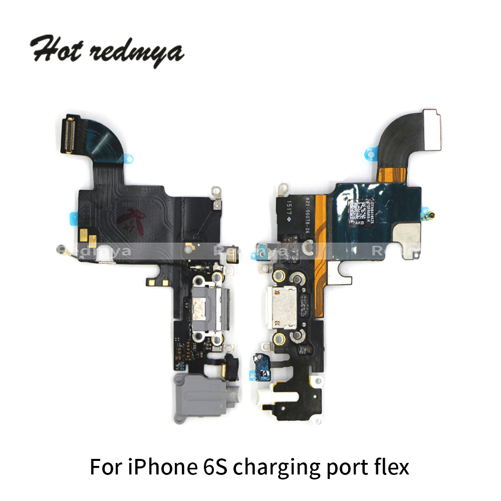 50pcs/lot Charging Flex For iPhone 6 6S USB Charger Port Dock Connector Replacement Parts With Headphone Audio Flex Cable50pcs/lot Charging Flex For iPhone 6 6S USB Charger Port Dock Connector Replacement Parts With Headphone Audio Flex Cable
