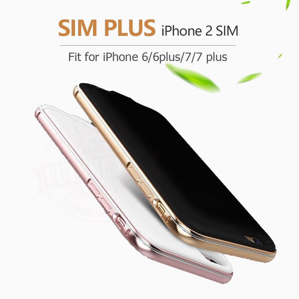 imágenes para 2017 Nueva Ultrafinos Bluetooth Dual SIM Doble Modo de Espera Adaper 6-7plus Larga Espera 7 días para el iphone con 1500/2300 mAh banco