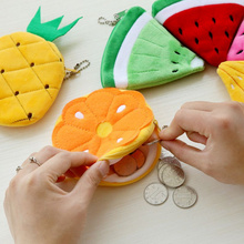 Новинка все фрукты подарок 10 см отделение для монет, с клубничками, лето Дамская монета кошелек сумка-чехол