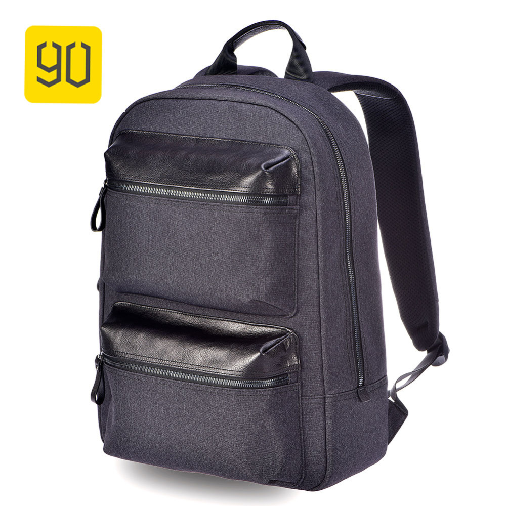 Xiaomi 90fun Business Multi-purpose Backpack Waterproof Daypack 15 Inch Laptop Bag Leather Brim For Men Women College Travel