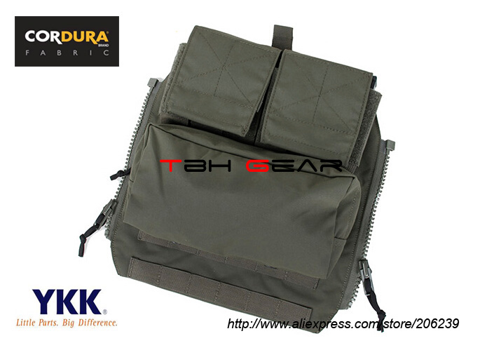 TMC Zip On Panel Pouch Cordura RG MOLLE Vest Utility Pouch+Free shipping(SKU12050339)