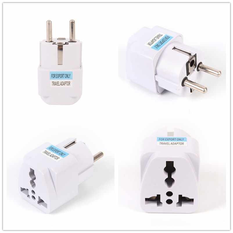 Universele 1 Pcs US UK AU Om EU Plug USA Om Euro Europa Travel Wall AC Power Charger Outlet Adapter converter 2 Ronde Pin