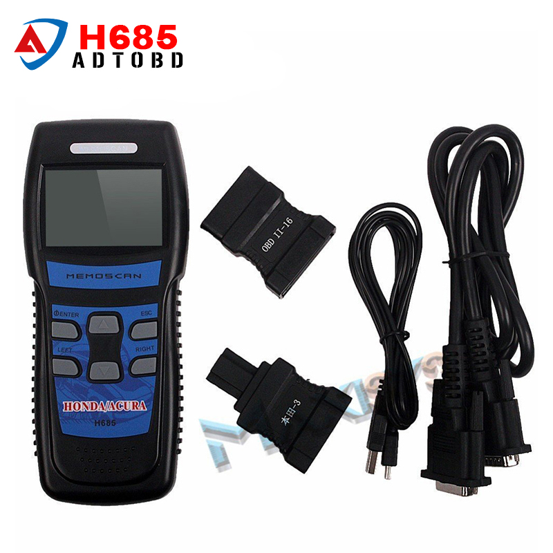 2017 Newest H685 Memoscan Diagnostic Scan Tool H685 FOR HONDA/ACURA OBD2 OBDII Fault Code Reader Scanner Tool With High Quality mini elm327 usb vehicle obd scan tool atuo diagnostic scanner
