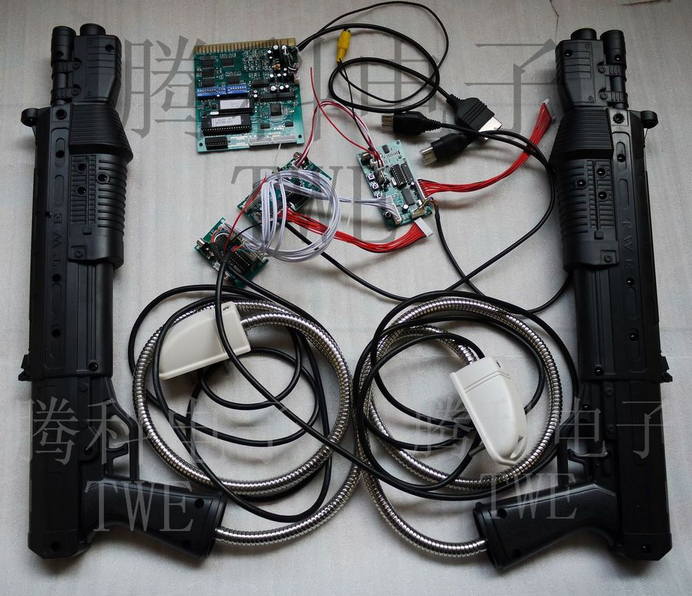 Arcade game kit THE HOUSE OF DEAD 3, LCD screen, TWE MGCD JAMMA converter board & long light gun X'box - TECHNWIN ELECTRONIC COMPANY (TWE store)