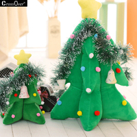Christmas plush toys cushion Christmas tree decortive pillow cushions for living-room party children's light-emitting gift