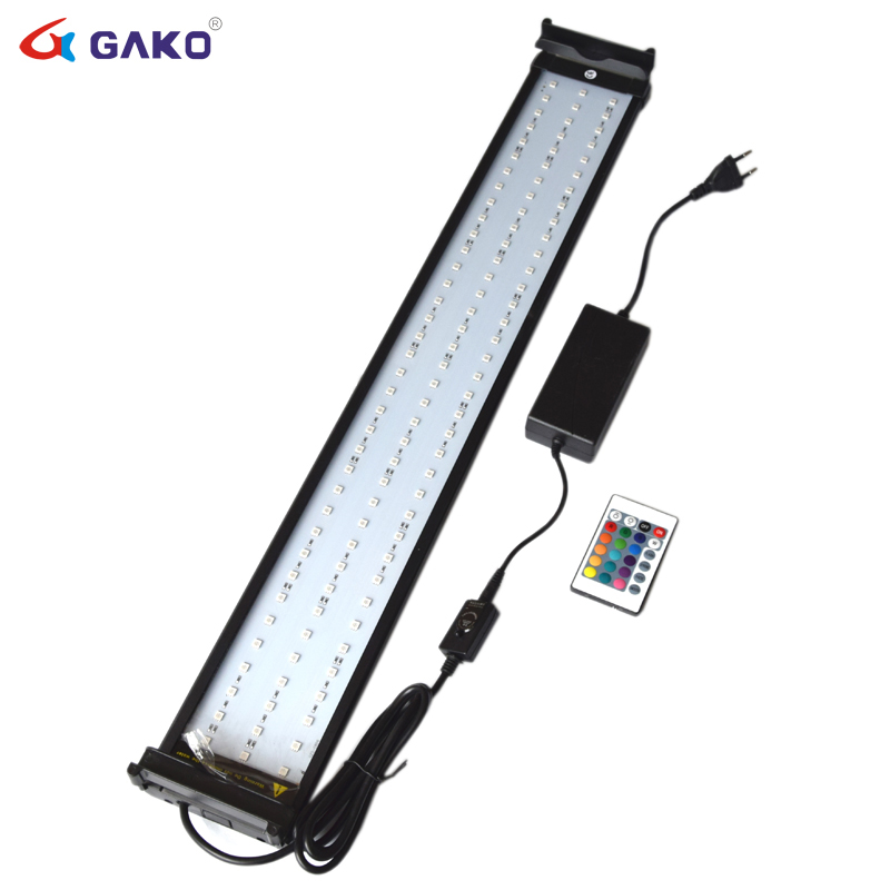 18W 75 95cm Color Changing Aquarium LED Lighting for Fish Tank RGB LED with Extendable Brackets