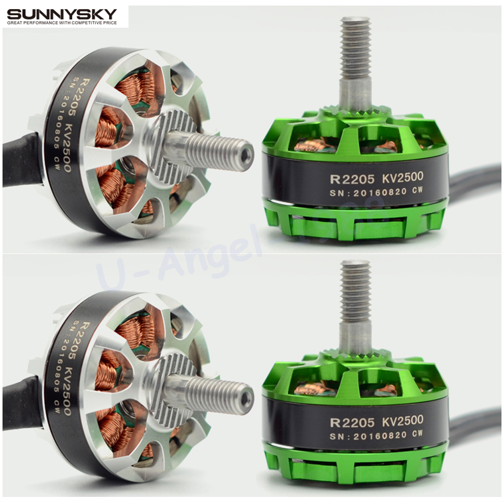 4set/lot Sunnysky R2205 2300KV/2500KV Brushless Motor 2CW 2CCW for FPV Racing Quadcopter Drone Multicopter lhi fpv 4x mt2206 2300kv cw ccw fpv brushless motor 2 4s 4 pcs racerstar rs20a lite 20a blheli s bb1 2 4s brushless esc