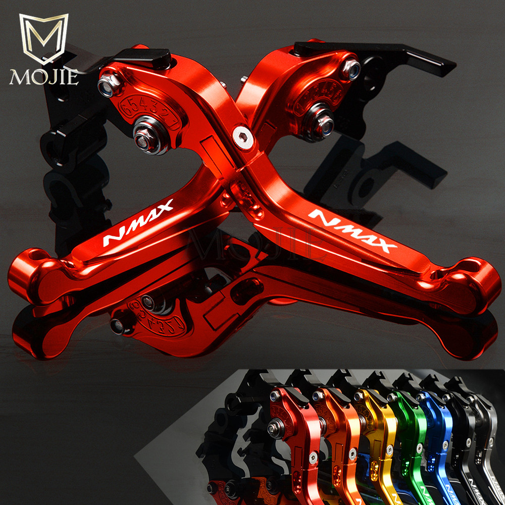 For YAMAHA NMAX 155 125 NMAX155 NMAX125 N-MAX N MAX 155 125 Motorcycle CNC Adjustable Folding Extendable Brake Clutch Levers for yamaha nmax 155 n max155 n max 155 2015 2016 motorcycle parts oil cover of the tank alloy fuel tank cap red