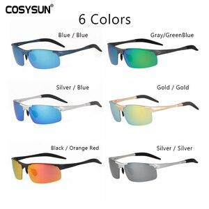 Image 5 - COSYSUNผู้ชายPolarizedแว่นตากันแดดชายแว่นตากันแดดอลูมิเนียมชายกระจกเลนส์Polarized Driving Goggleแว่นตากันแดดผู้ชาย