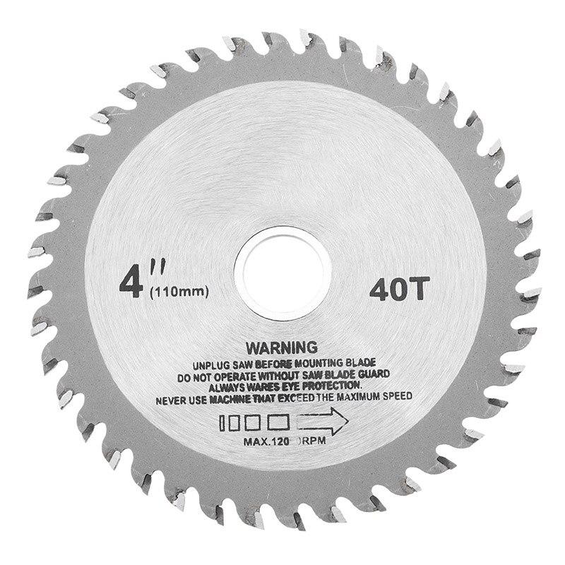 4 Inch 40 Teeth Circular Saw Blade Acrylic Plastic Woodworking Cutting Blade New