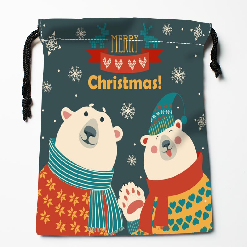 New Arrive  Bear Art  Drawstring Bags Custom Storage Bags Storage Printed Gift Bags More Size 27x35cm DIY Your Picture