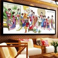 230x102 см мечта красный двенадцать Для женщин вышивки крестом Вышивка комплект Картины рукоделие стены Домашний Декор DIY ручной Craft подарок