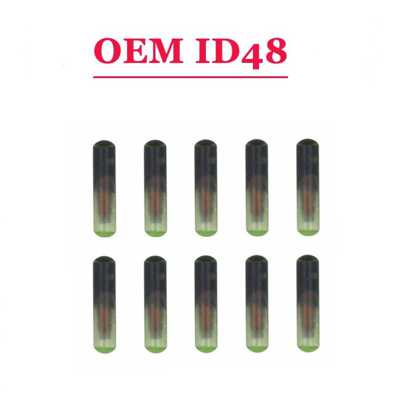 Большие скидки (100 шт./лот) oem Стекло ID 48 для megamos крипто чип автомобиль пустой ID48 для транспондера ключевых