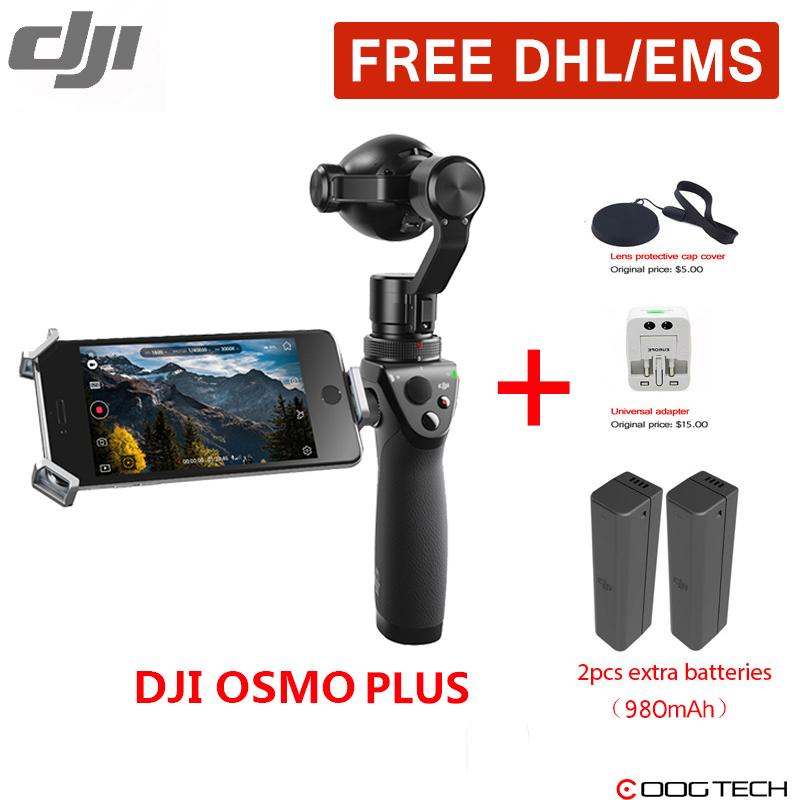 Prix pour DHL Gratuite DJI OSMO + De Poche 4 K Caméra Cardan OSMO Plus Stabilisateur 3.5 X Optique