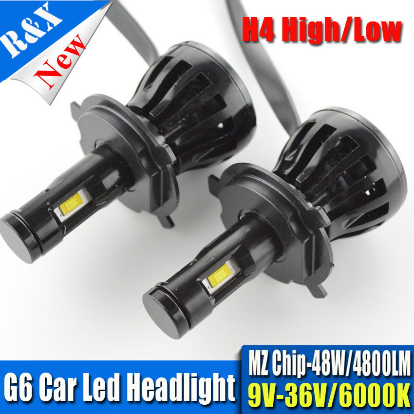 H4 Car LED Light Headlight 96W 9600LM 9V 12V 24V H13 H11 H7 9005 9006 Headlamp Pure White 6000K Car Light Fog Light Bulbs G6 tcart 2x 9005 hb3 9006 hb4 dual color car led headlight white yellow headlamp bulbs fog lamps for plips chip 36w auto led light