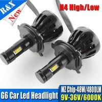 H4 Car LED Light Headlight 96W 9600LM 9V 12V 24V H13 H11 H7 9005 9006 Headlamp Pure White 6000K Car Light Fog Light Bulbs G6