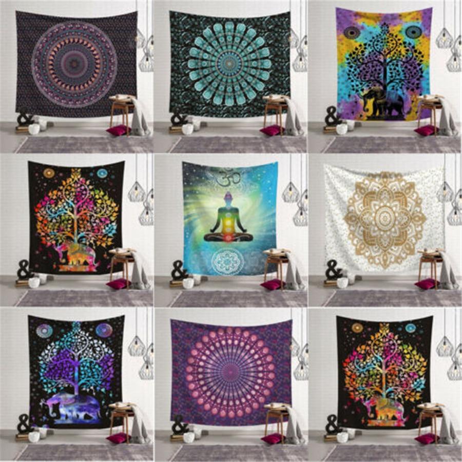 Twin Indian Mandala Bedspread Tapestry Wall Hanging Hippie bohemian Ethnic Throw