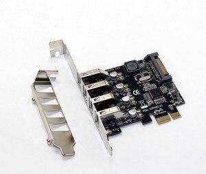 Image 1 - 4 Port USB 3.0 5 Gbps Pci express X1 Kartı Adaptörü HUB için Düşük Profilli Braketi Destekler
