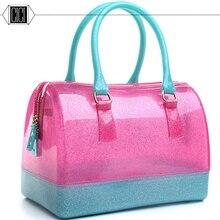 2016 women's handbag candy handbags popular Fashion PVC waterproof Pillow candy jelly bags designer handbags