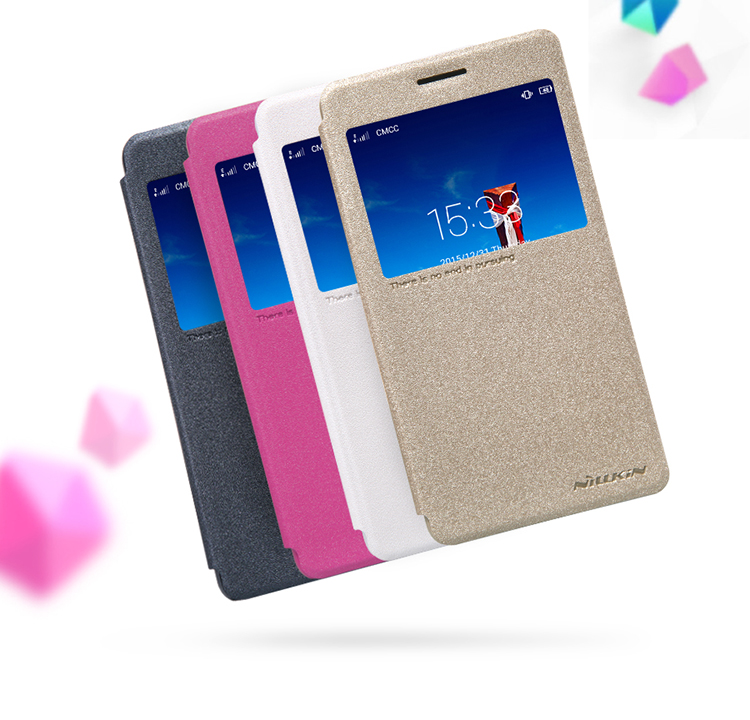 size 40 af6cd be091 US $7.91 7% OFF|Original NILLKIN Sparkle Flip Leather with Smart View  Window Back Cover Phone Case for Lenovo Vibe P1m free shipping-in Flip  Cases ...