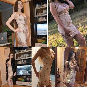 Image 2 - Соблазнительные Клубные наряды, летнее платье с блестками, женское черное облегающее мини платье для вечеринки, винтажные женские платья, одежда 2020