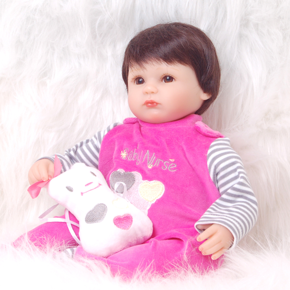 Wholesale Lifelike Reborn Dolls Babies 17 Silicone Soft Cloth Body Newborn Doll So Lovely Girl Baby Toys Children Best Gifts