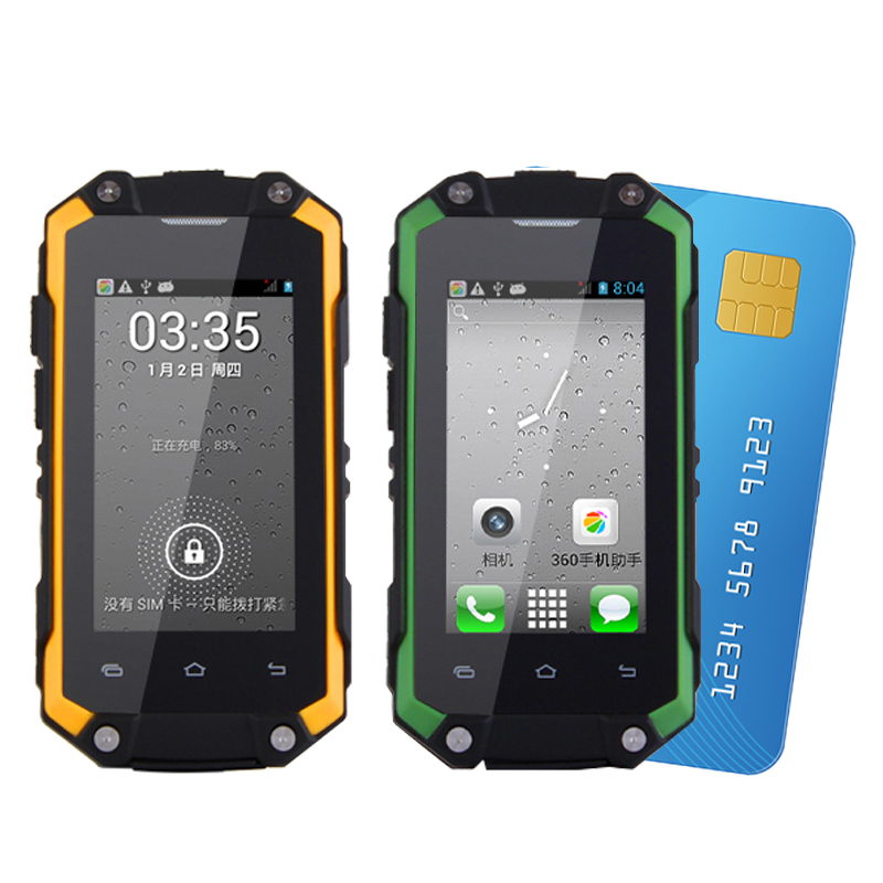 MAFAM J5 + Dual Sim Wasserdicht Android 5.1 Play Store ROM 8g RAM 1g Mini Smartphone WIFI WCDMA 3g Robuste Telefon P014